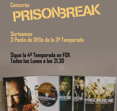 Llevate uno de los 3 Packs de DVDs de la 3ª Temporada de Prison Break - Llevate uno de los 3 Packs de DVDs de la 3ª Temporada de Prison Break