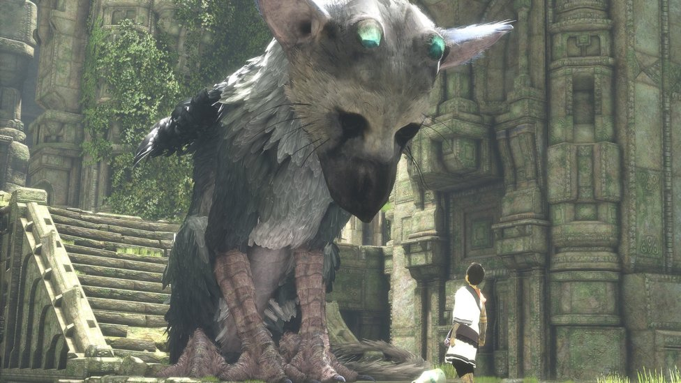 Trico y chico se miran en The Last Guardian - Problemas con el framerate en el lanzamiento de The Last Guardian