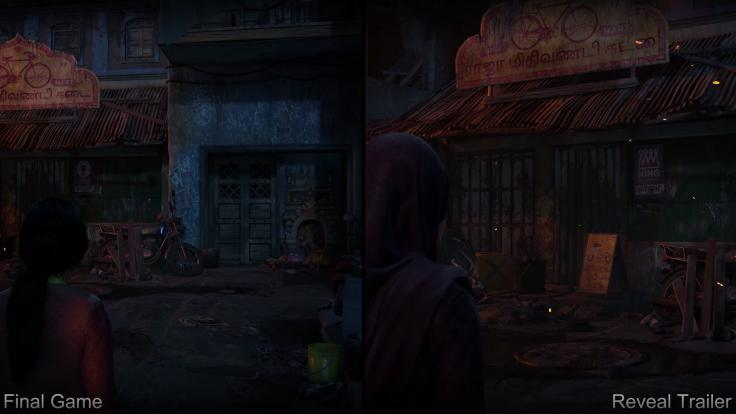 Escenarios modificados del Uncharted: Lost Legacy original al juego final