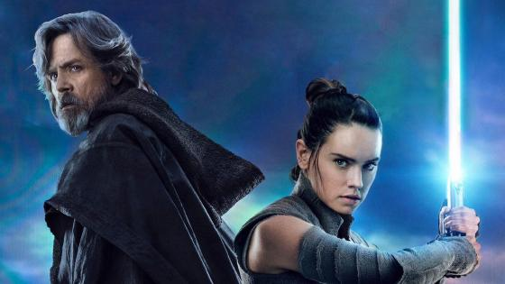 Luk Skywalker y Rey en Star Wars
