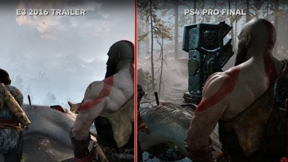 God of War comparando el trailer del E3 de 2016 - Comparan los gráficos de God of War con trailer del E3 2016