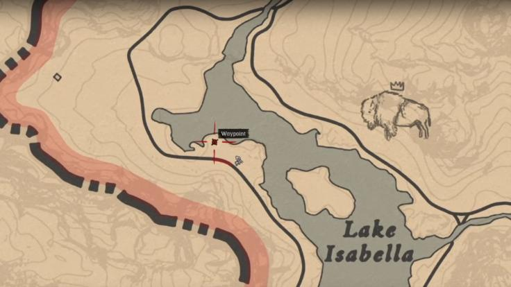 Location of the horse near the Lake Isabella
